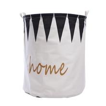 Фотография Waterproof Canvas Portable Laundry basket toy storage bag large box Cotton Linen washing clothes basket banjour home folding