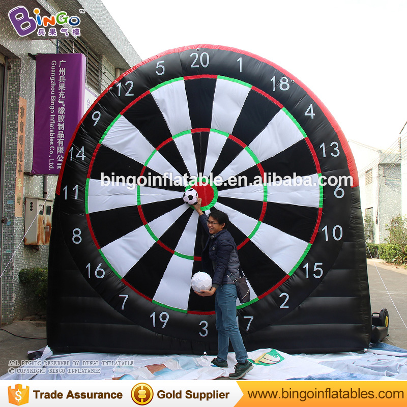 Board games 4*4m giant inflatable football dart board, inflatable golf/football dart game outdoor fun sports for kids N adults super funny elephant shape inflatable games kids slide toy for outdoor