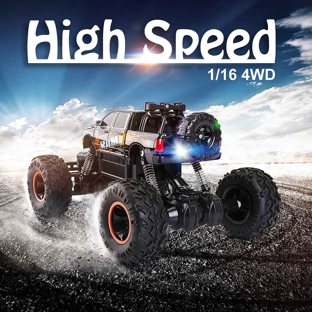 1/16 Scale 4WD 2.4G High Speed Radio Fast Remote control RC RTR Racing Buggy Crawler RTR Car Off Road Gift Toy for Children Kid hongnor ofna x3e rtr 1 8 scale rc dune buggy cars electric off road w tenshock motor free shipping