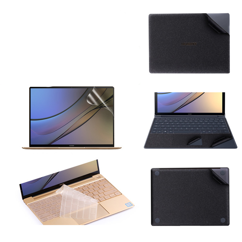 Matte Black Laptop Sticker for Huawei MateBook E 12 D 15.6 Vinyl Decal Laptop Skin for Matebook X Pro 13.9 X 13.3 Keyboard Cover