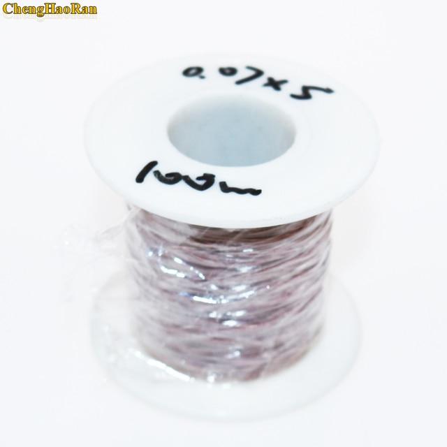 ChengHaoRan 100 メートル 0.07 × 4 株 0.07 × 5 ストランドリズワイヤーマルチストランドポリエステルケーブル封筒銅ワイヤー糸ライン