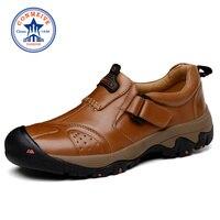Khuyến mãi Mùa Đông Săn Bắn Da Chính Hãng Giày Đi Bộ Đường Dài Ấm Ngoài Trời Leo Núi Giày Ren-up Leo Mens Sneakers Men Đi B