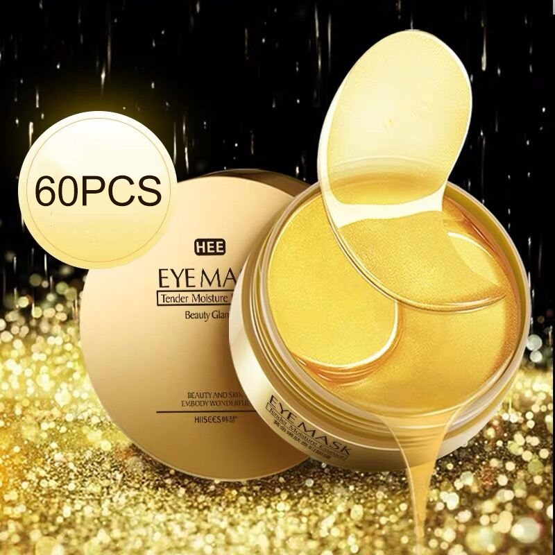 Gold/Seaweed Collagen Eye Mask Face Anti Wrinkle Gel Sleep Gold Mask Eye Patches Collagen Moisturizing Eye Mask Eye Care