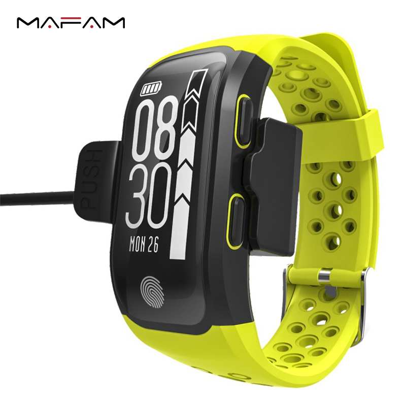 MAFAM S908 Remote Control Multiple Sports Heart Rate Monitor Call Reminder Smart Wristband GPS IP68 Waterproof Swimming Bracelet цена