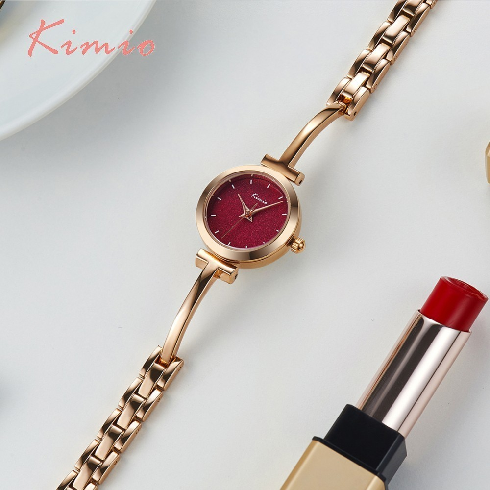 KIMIO Shine Dial Rose Gold Women Watches Armbåndsur Ladies Watches - Dameure - Foto 1