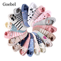 Goebel Woman Summer Socks Cartoon Creative Cotton Women Socks Shallow Mouth Comfortable Short Tube For Girls