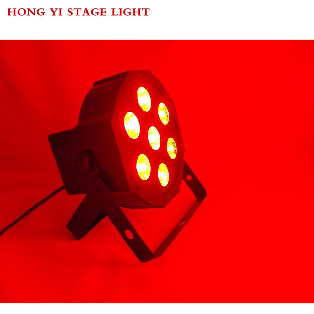1pcs/lot 7x12W LED Flat Par RGBW Quad No Noise 8 Channels Disco Paty