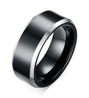 8mm Black Tungsten Men S Wedding Ring Comfort Fit Matte Finish Engagement Band Rings Jewelry To