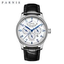 Parnis 42 мм автоматические часы Moon Phase мощность резерв часы для мужчин Элитный бренд Топ Miyota Механическая намотка часы PA6062-A подарок для мужчин