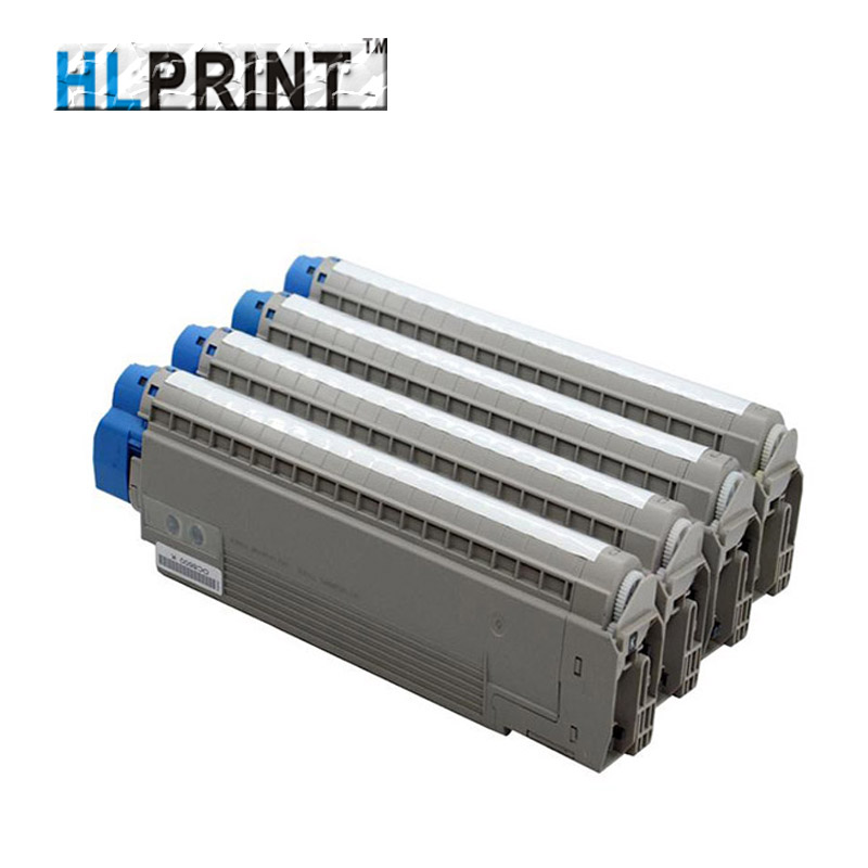 Printer Toner Cartridge Compatible OKI C8600 C8800 43487725 43487726 43487727 43487728 BK/C/M/Y 4PCS/SET цена и фото