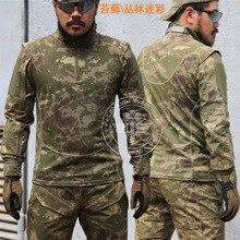 Камуфляжная футболка с длинными рукавами для мужчин, тактическая охотничья одежда, военная, походная, страйкбол, Wargame sortswear gear