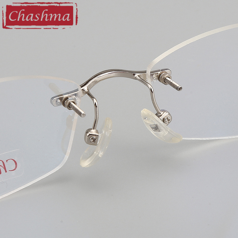 Image 4 - Chashma Brand Designer Ultra Light Glasses Rimless Eyeglasses Female Prescription Spectacles Quality Titanium Frames for Women-in Women's Eyewear Frames from Apparel Accessories