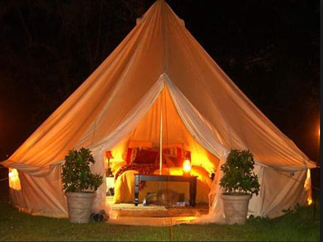 4m 5m 6m Glamping Bell Tent Cotton Tipi Tent In Tents From