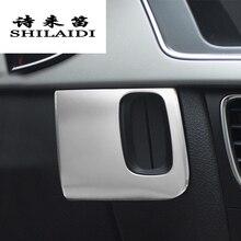 Стайлинга автомобилей Замочная скважина декоративная рамка, обшивка, накладка из нержавеющей стали наклейки полосы для Audi A4 B8 A5 8T S5 авто аксессуары для интерьера