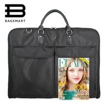 Bagsmart trip garment hanger clamp durable business suit zipper travel waterproof