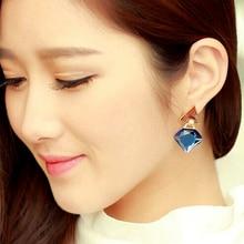 2016 Summer Style Crystal Jewelry Geometric Triangle Earrings Luxury/boucle d'oreille femme/oorbellen for women/orecchini donna