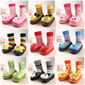 Cute Lovely Baby Kids Soft Soled Socks First Walkers Newborn Infant Animal Cartoon Baby Prewalker Anti Slip Socks Bootie