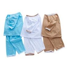 Купить с кэшбэком Vinnytido Kids Pajamas Set Summer Cotton Top With Pants Cotton Sleepwear Casual Pajamas For Boys and Girls