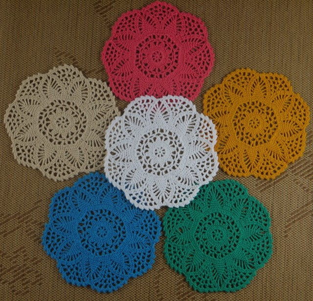 Free Shipping Wholesale Wonderful Pineapple Flower Crochet Pattern