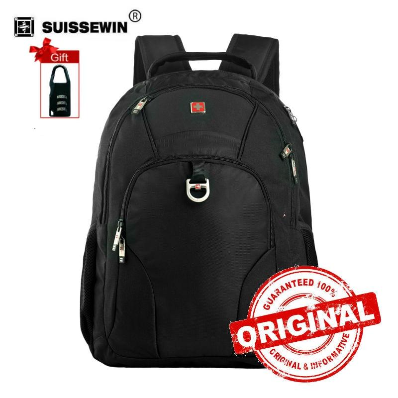 Laptop Backpack Male Swissgear Computer Backpack Bag Women Black Waterproof School Backpack For Boys Bagpack Men SWE1002