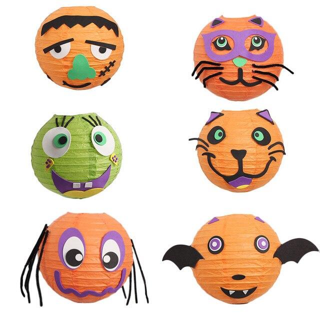 Halloween kürbis Lampe DIY Handarbeit Tragbare Laterne für Kinder ...