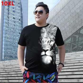 Plus size summer t-shirt 8XL super large size loose tide Short sleeve  t-shirt round neck 10XL 9XL 7XL - DISCOUNT ITEM  7% OFF All Category