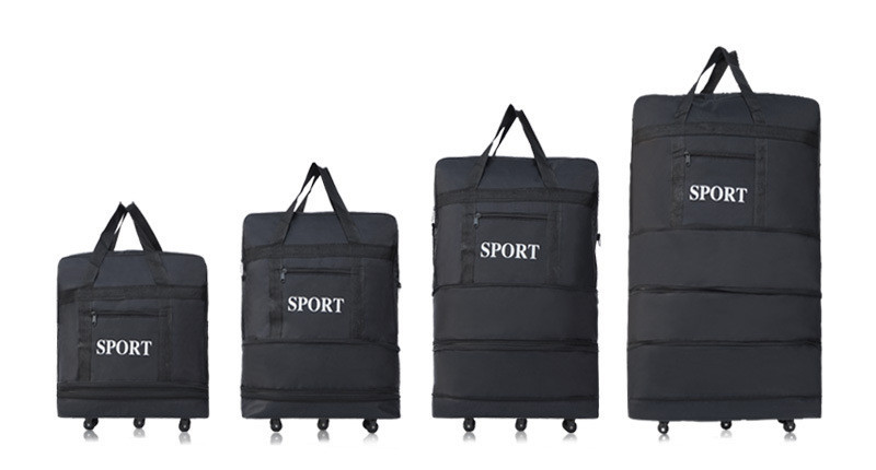 2015 wholesale ultra light luggage travel bag large capacity universal wheels retractable folding tug bags