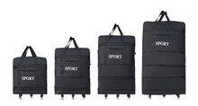 2015 wholesale ultraleichte gepäck reisetasche große kapazität universalräder versenkbaren klapp hafentaschen