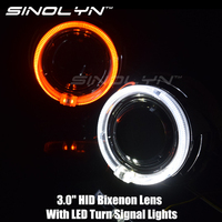 Switchback LED Angel Eyes Halo Turn Signal Lights DRL 3 0 HID Bi Xenon Headlight Projector