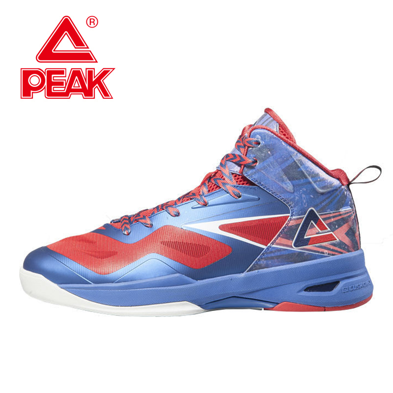 PEAK FIBA Basketball World Cup Peak Soaring II Basketball Shoes Mens Basketball Shoes Boys Sports Shoes Ankle Boots EUR 40-48 peak sport lightning ii men authent basketball shoes competitions athletic boots foothold cushion 3 tech sneakers eur 40 50