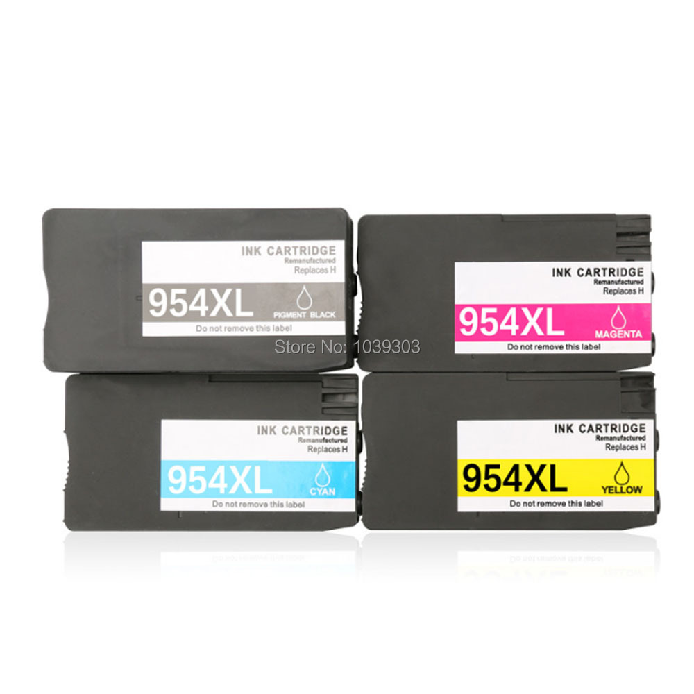 4pack Compatible for HP 954XL 954 XL Ink Cartridge Full With Ink For HP Officejet Pro 7740 8210 8710 8720 8730 Printer hot sales ink cartridge for hp officejet pro 7740 8210 8216 8218 8710 compatible cartridge with bk c m y original cartridge