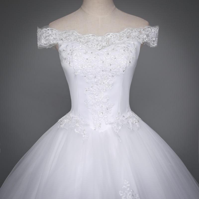 Fansmile Korean Lace Up Ball Gown Wedding Dresses 2017 Plus Size Bridal  Dress Princess Wedding Gown ... e6e1aefe9c71