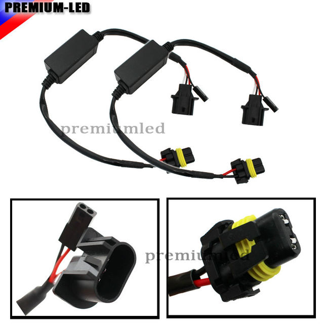 2 Easy Relay Harness For H13 9008 Hi Lo Bi Xenon HID