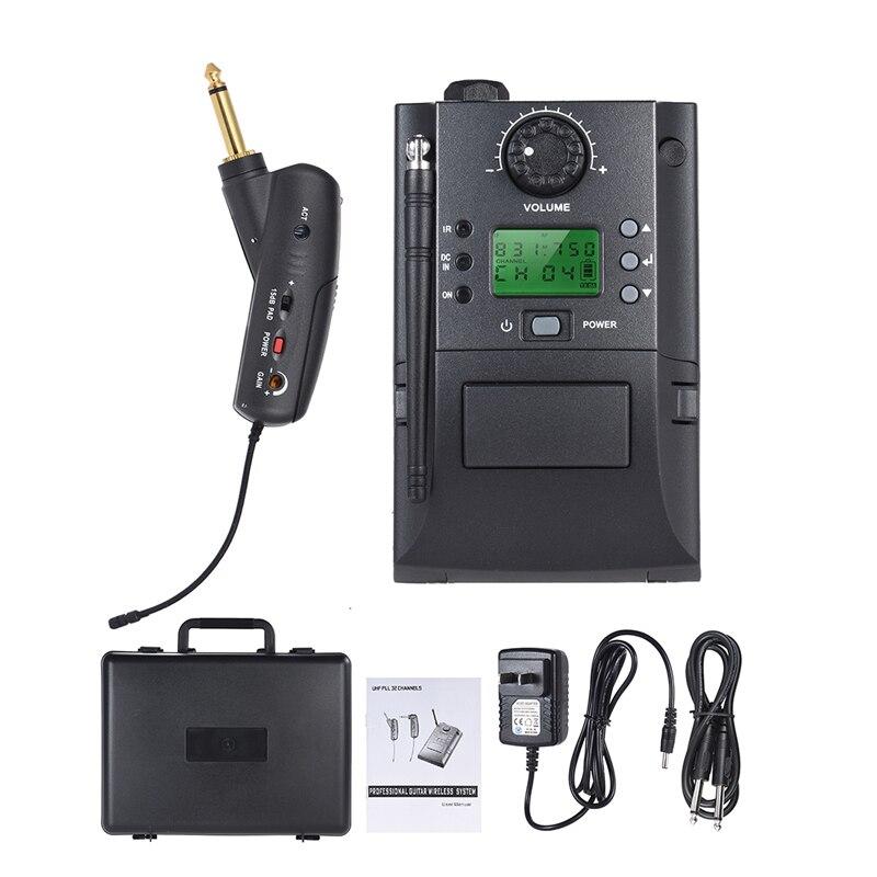 Professionnel UHF PLL Sans Fil Guitare Microphone pour Concert et Stade performance IR Transmetteur électrique torche microphone