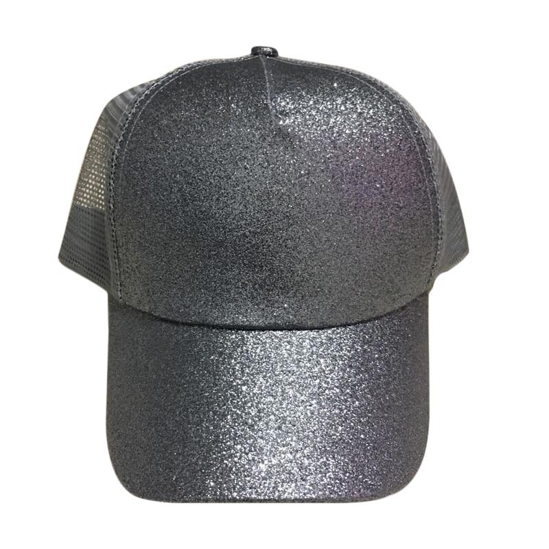 ccbb63b6fa3 Fashion Sequin Fluorescent Baseball Cap Adjustable Sun Sport Caps ...