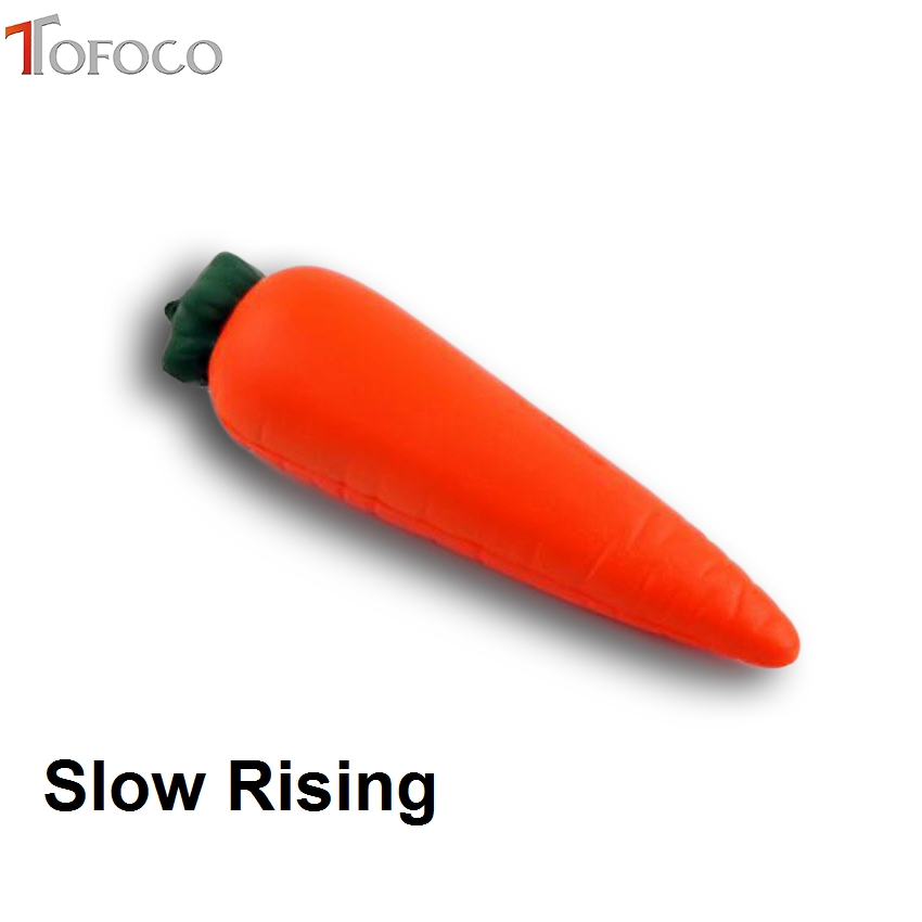 TOFOCO Cute Squishy Squeeze 14cm Fruit Carrot Slow Rising Stretch Toy Ball Anti Stress Toys Interesting Novelty Shocker Prank
