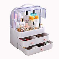 Dust Proof Makeup Organizer Cosmetic and Jewelry Storage Display Boxes with Drawers for Vanity, Skin Care Products Finishing Box
