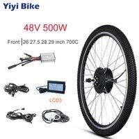 48 в электрический велосипед 500 Вт переднее моторное колесо 35 км/ч бесщеточный мотор ступицы KT LCD3 26