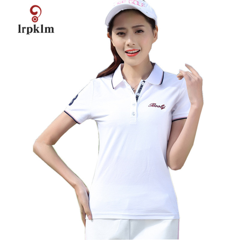 2018 New Womens Summer Polo Shirts Ladies Casual Plus Size Cotton Polo Women Solid Short ...