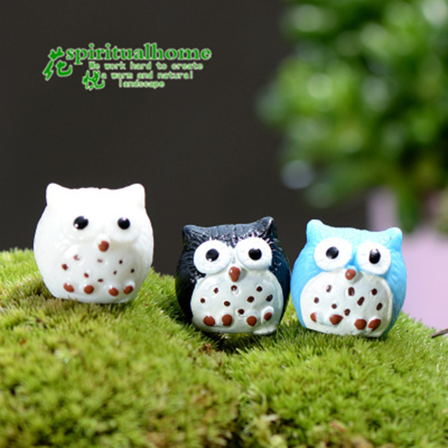 Colorful Night Owl Small Resin Ornament Crafts Statue  2