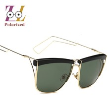 2017 Popular metal frame Retro vintage Polarized sunglasses Mirror  Fashionable Exclusive sun glasses for women