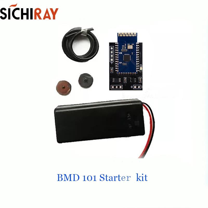 BMD101 Starter Kit EKG Sensor Neurosky Biosensorteknik Hjärtfrekvensmätare med CardioChip ECG biosensor Gratis SDK