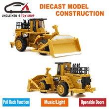 Simulasi diecast model buldoser caterpillar logam, Mini Wheel Loader, mainan Traktor, cars dengan kotak/fungsi/musik/cahaya