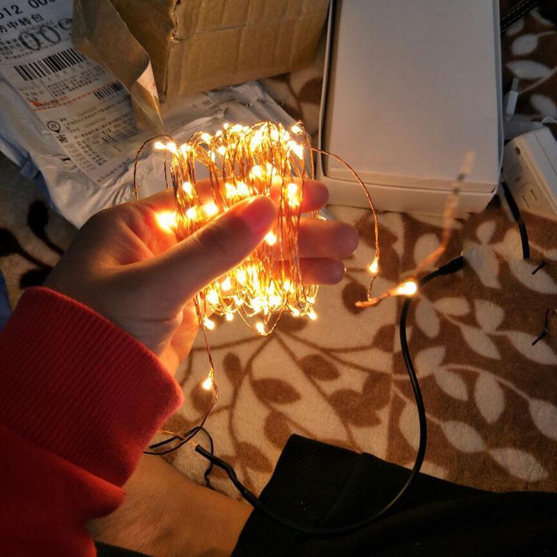 SPLEVISI Dimmable LED Lumières En Fil De Cuivre Lumières 30m - Éclairage festif - Photo 3