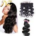 Объемная Волна Перуанский Девственные Волосы С Закрытием 13*4 Уха До Уха Кружева Фронтальная Закрытие С Пучками 7А Перуанский Волосы девственницы