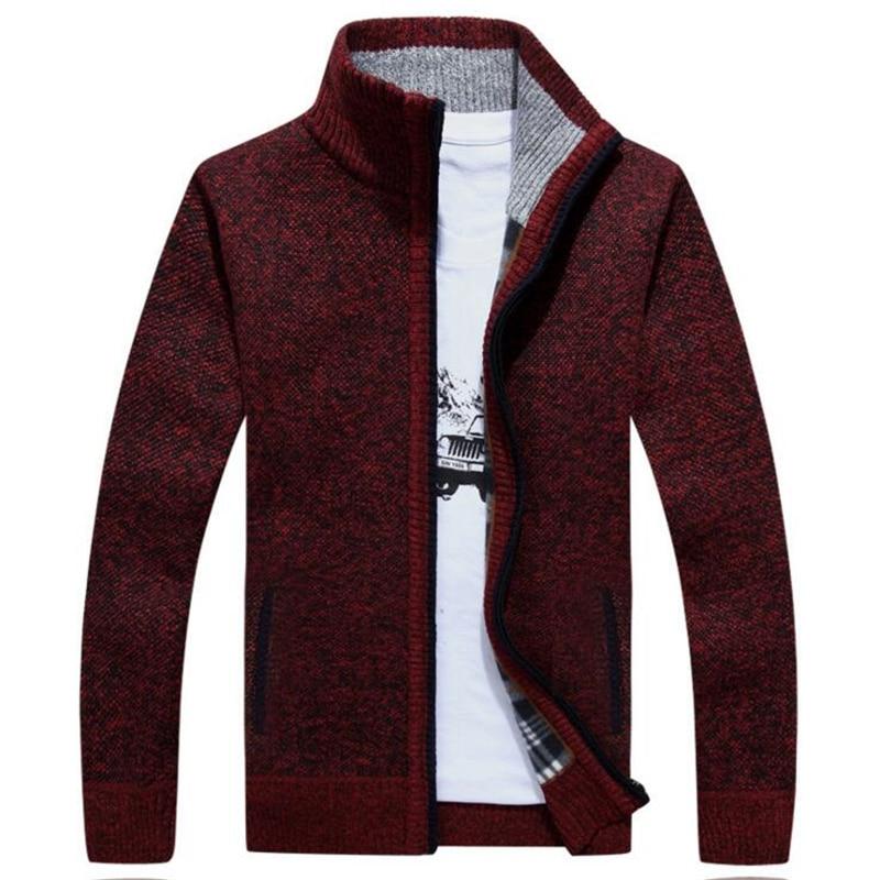 Autumn Winter Men Fashion Turtleneck Sweaters Knitted Cardigan Brand Clothing Men Loose  ...