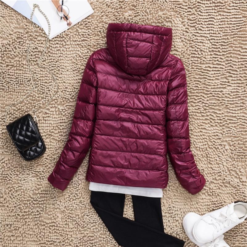 Plus Size S-7XL 90% White Duck Down Jacket Women Winter Women's Overcoat Female Ultra Light Autumn Hooded Down Coat Jackets 2018 2