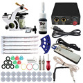 Starter Complete Tattoo Kit 1 Machine Gun Power Supply Needles Ink Set Tattoo Equipment For Beginners