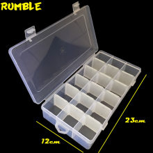 Rumble 18 Slots Cells Portable Tool Box Jewelry Ringstone Fishing Screw Beads Storage Boxes Container Craft DIY Plastic Case(China)