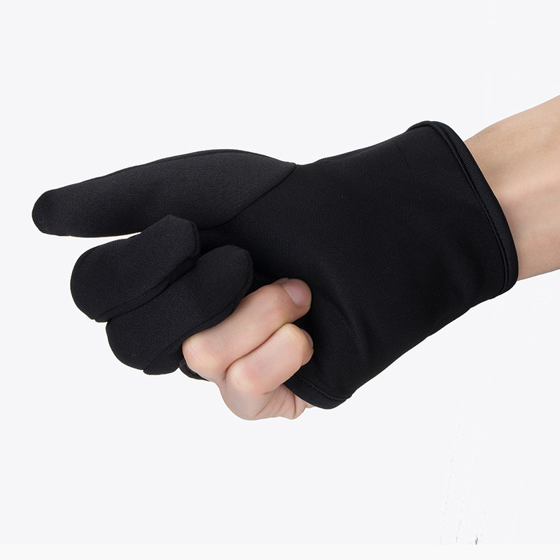 Hairdressing Three fingers anti-hot glove For Flat Iron Heat Resistant Hair Straightening Curling Glove Styling Household Gloves5